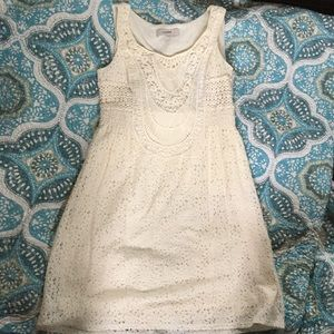 LOFT Cream Lace Dress